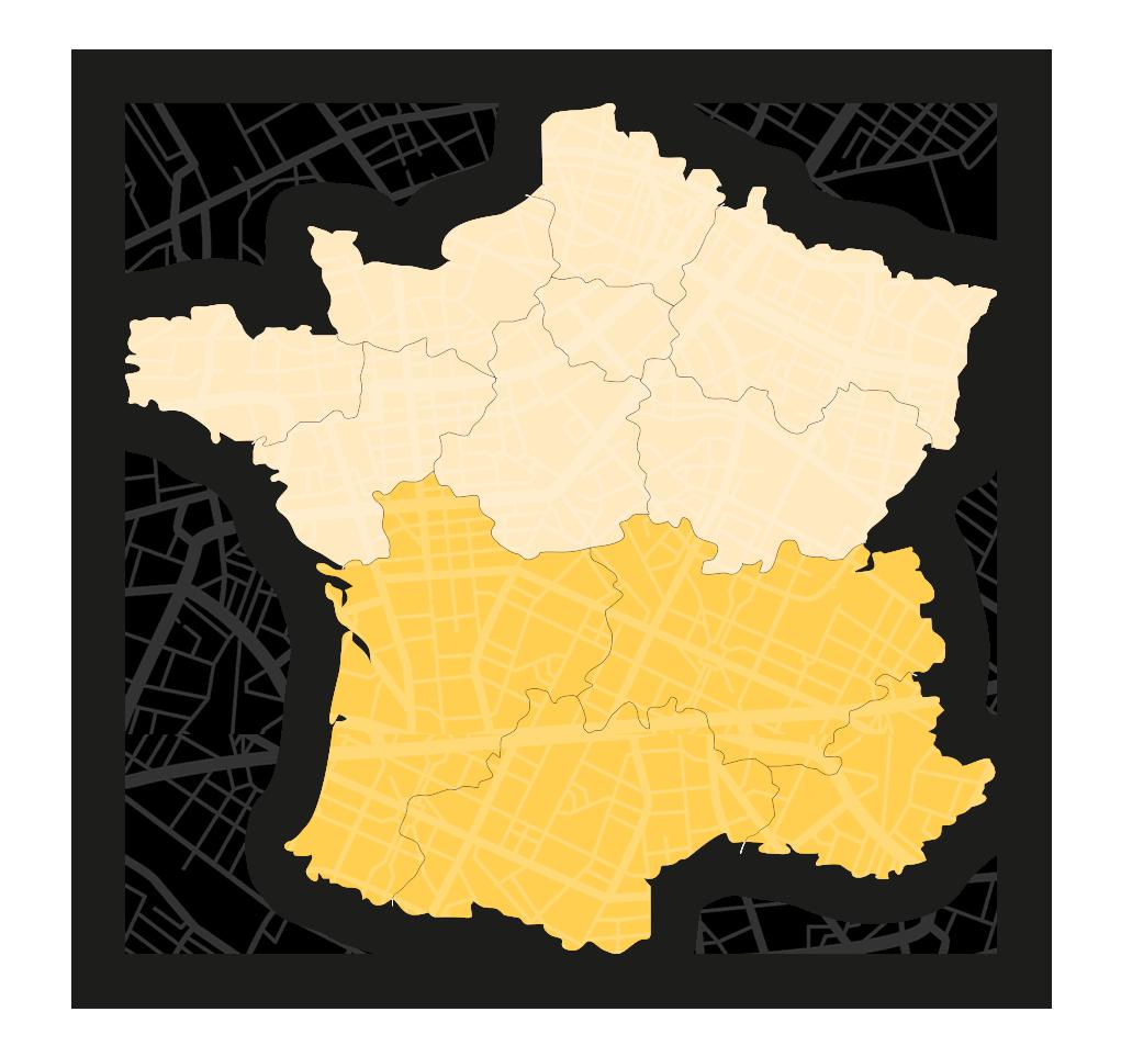 Mappa Francia Salomone Trasporti